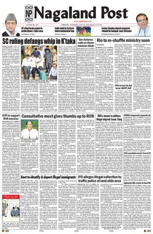 July 18, 2019 by Nagaland Post - issuu