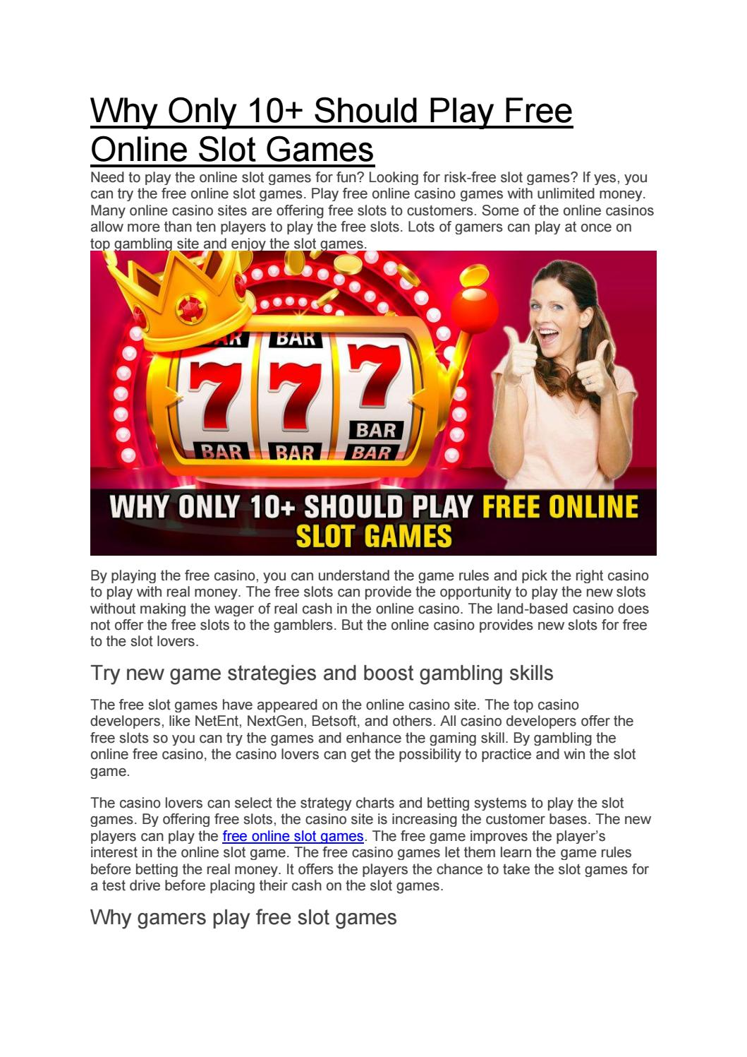 Why Only 10 Should Play Free Online Slot Games By Olivecasino Issuu