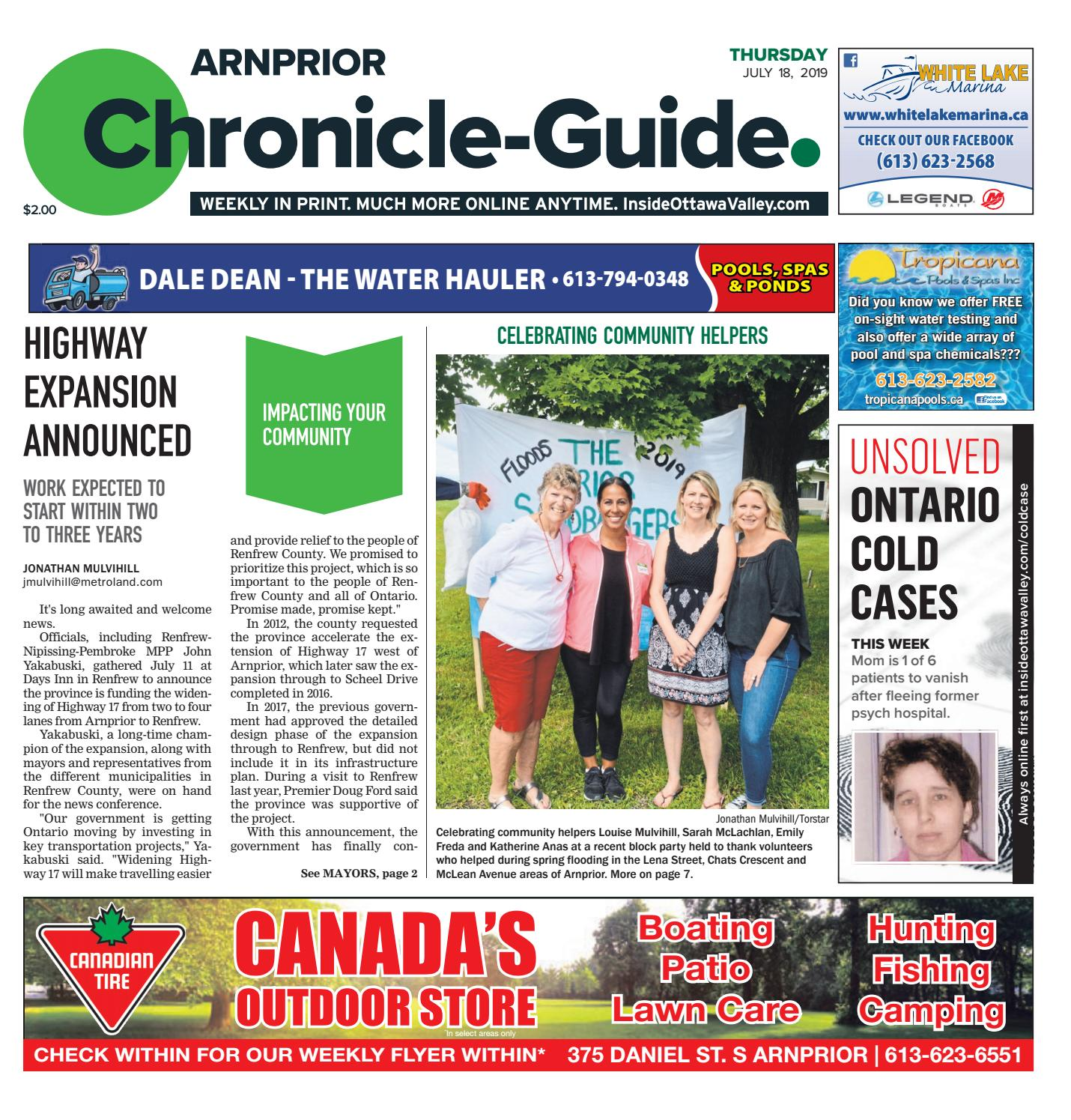 Arnprior Chronicle-Guide July 18, 2019 by Metroland East