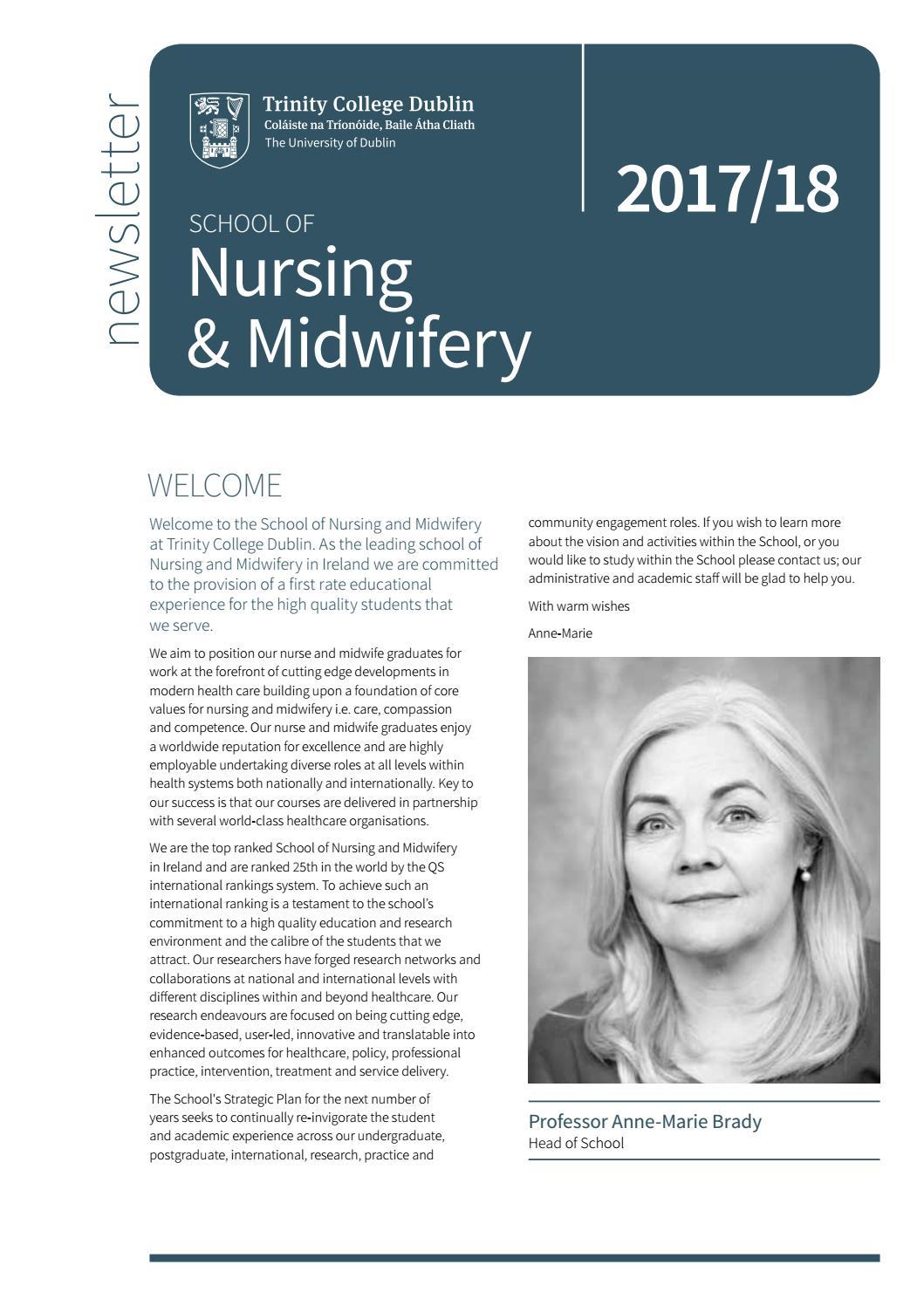 Amanda Horan Kennedy school of nursing & midwifery newsletter 2017/18tcd