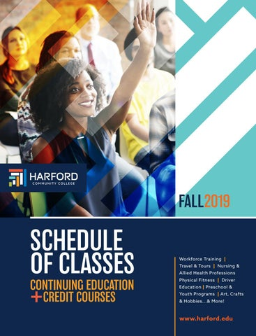 Fall 2019 Schedule of Classes by Harford Community College