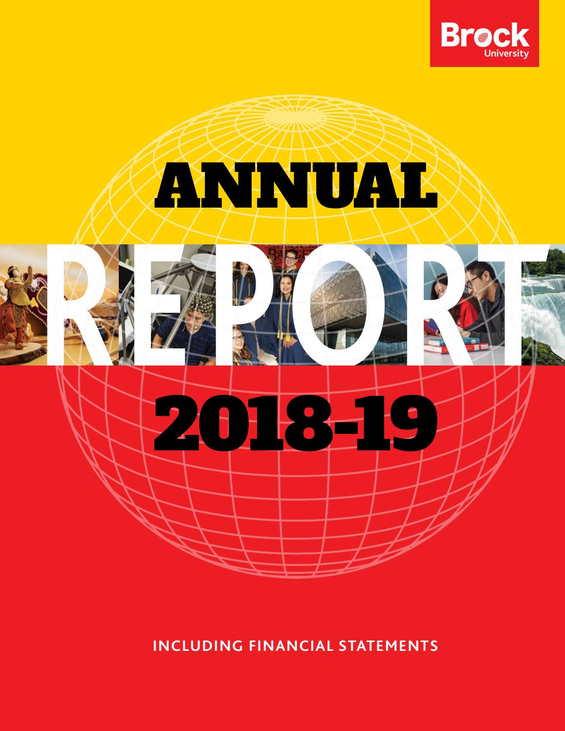 Annual Report 2018-19 by Brock University - issuu