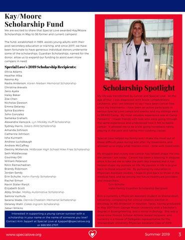 Page 3 of Scholarship Spotlight: Erin Schulte