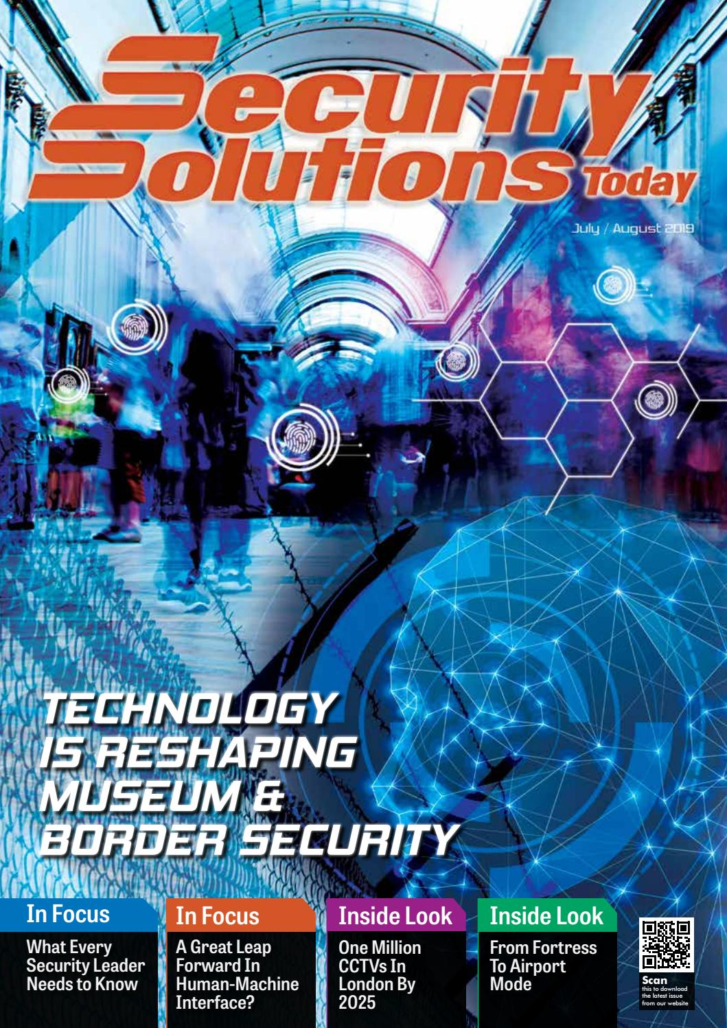 Jul Aug 2019 By Security Solutions Today Issuu