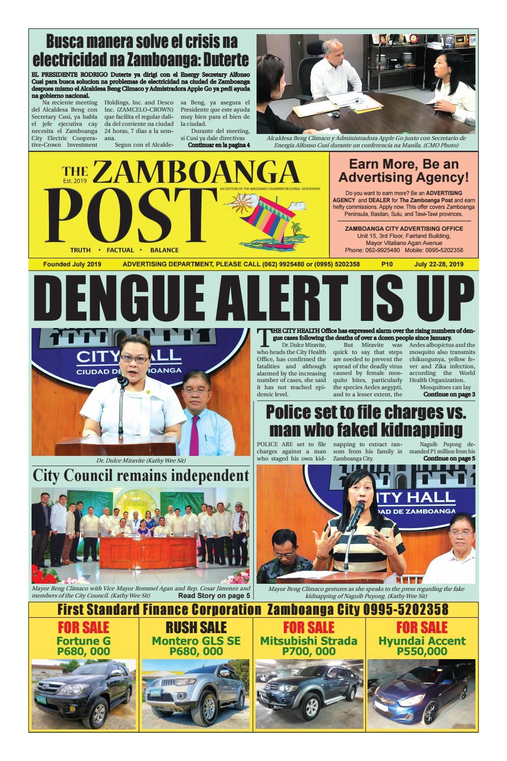 The Zamboanga Post (July 22-28, 2019) by Mindanao Examiner