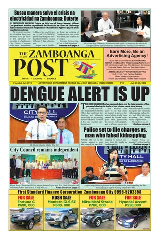 The Zamboanga Post (July 22-28, 2019) by Mindanao Examiner Regional