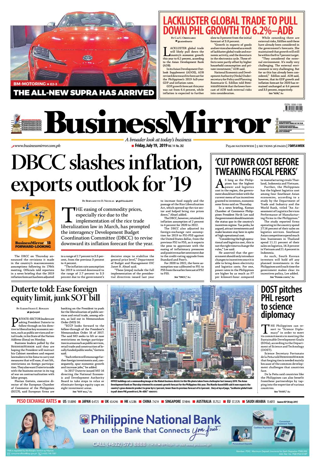 Businessmirror July 19 2019 By Businessmirror Issuu