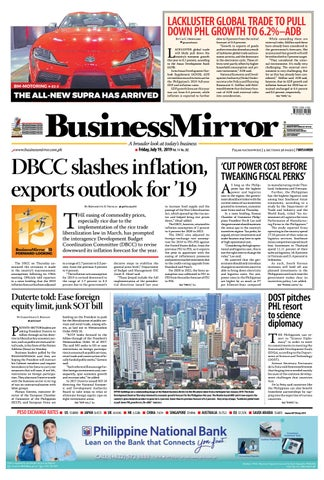 Businessmirror July 19, 2019 by BusinessMirror - issuu