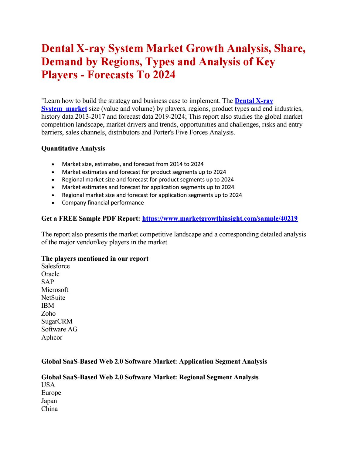 Dental X-ray System Market Growth Analysis, Share, Demand by Regions