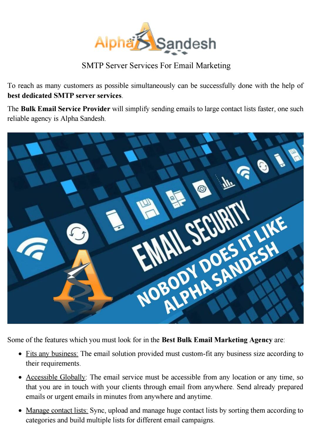 Best SMTP Server Services For Email Marketing by Cella James