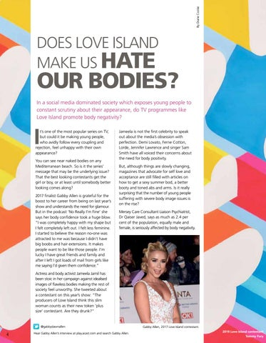 Page 4 of Does Love Island make us hate our bodies?