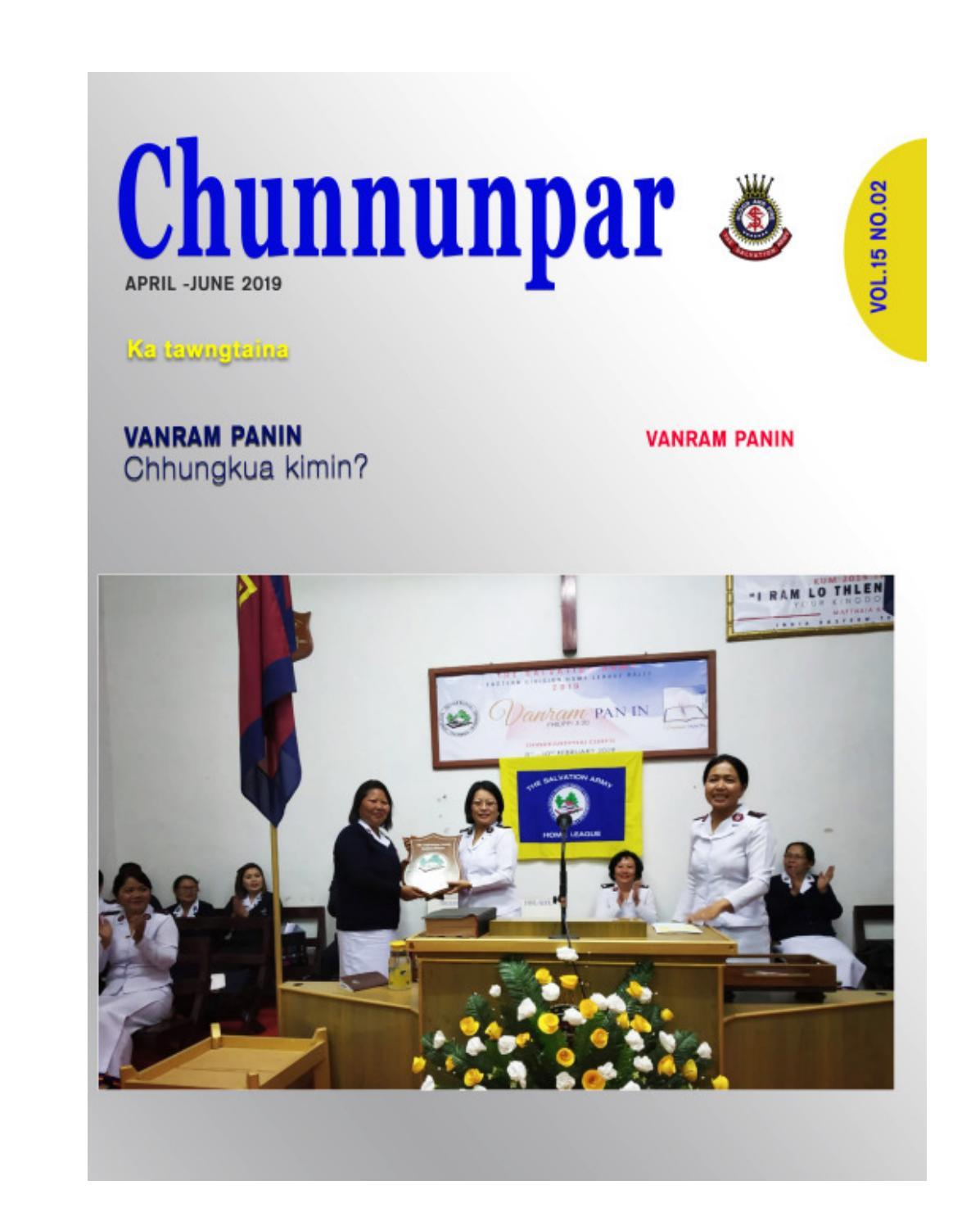 Chunnunpar April - June 2019 by SalvationArmyIET - issuu