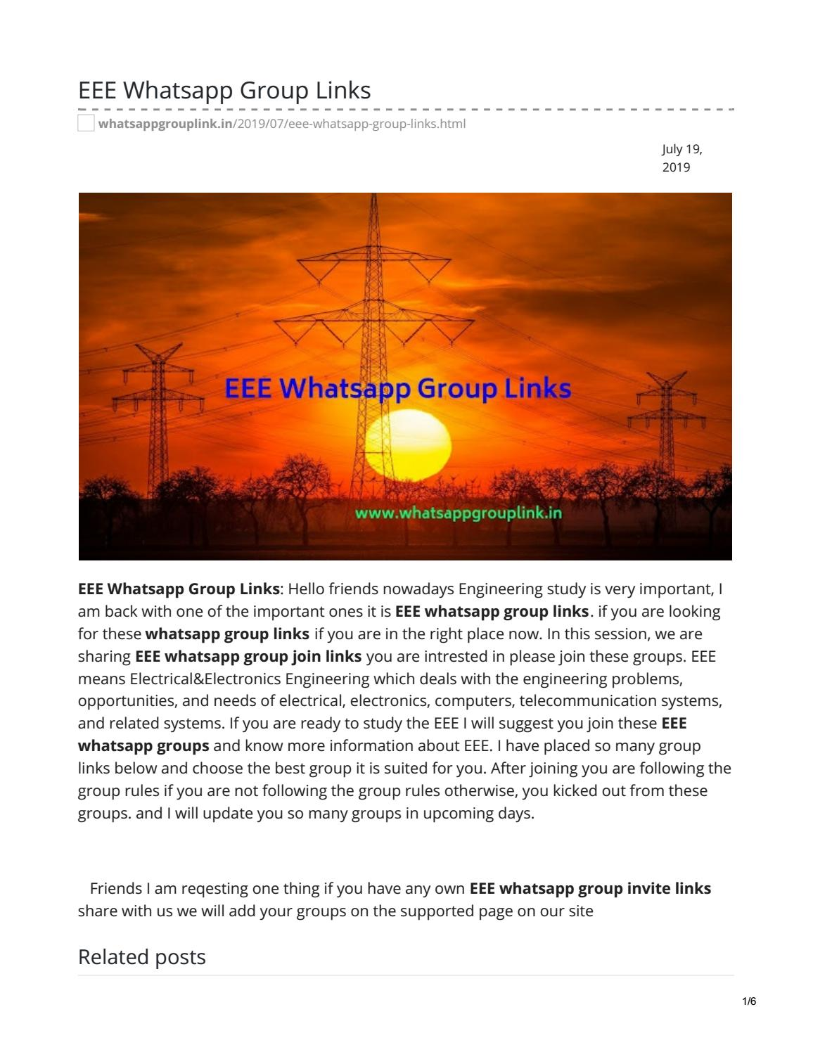 EEE Whatsapp Group Links by whatsappgrouplink77 - issuu