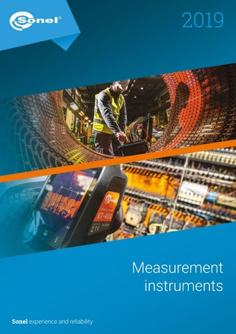 Sonel Measurement Instruments 2019 by Sonel - issuu