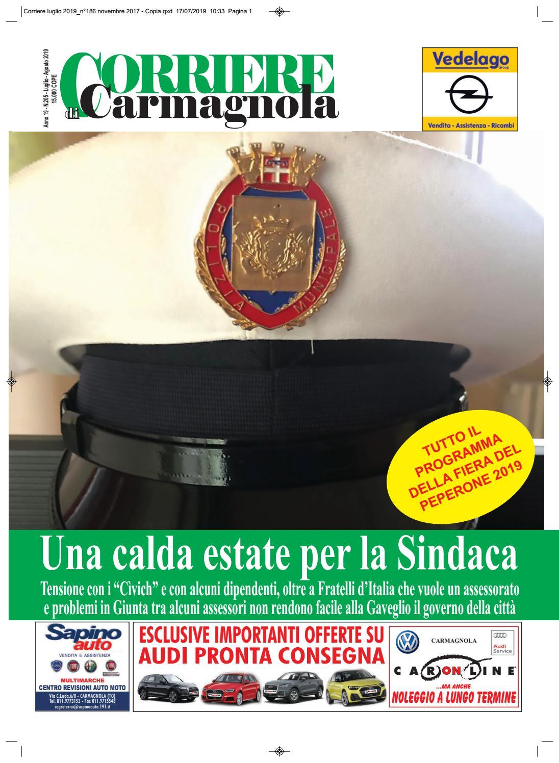 Centro Del Materasso Carmagnola.Corriere Di Carmagnola Luglio Agosto 2019 By Corriere Di