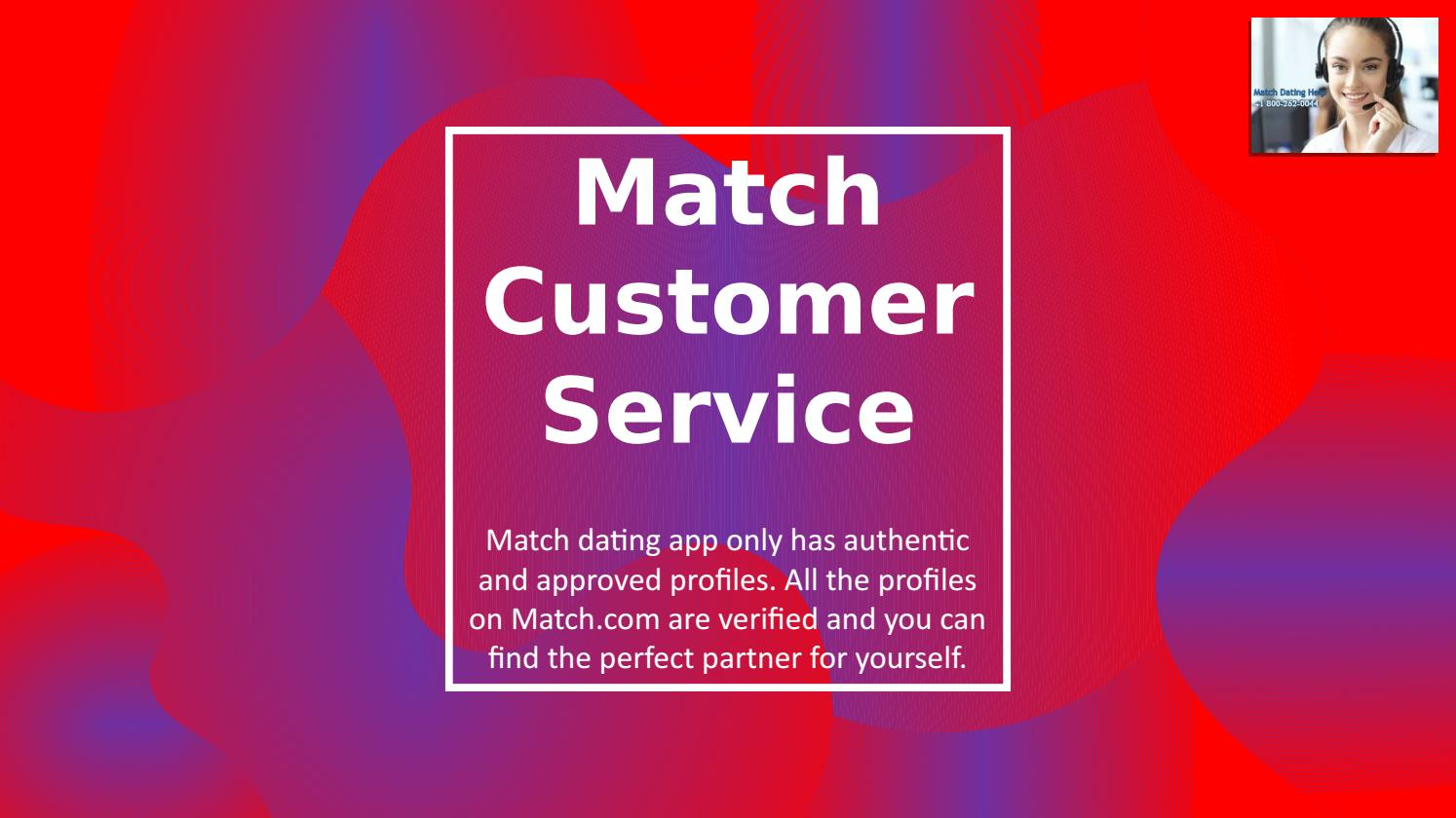 Customer care phone number for match com