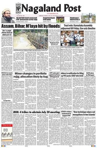 July 19, 2019 by Nagaland Post - issuu