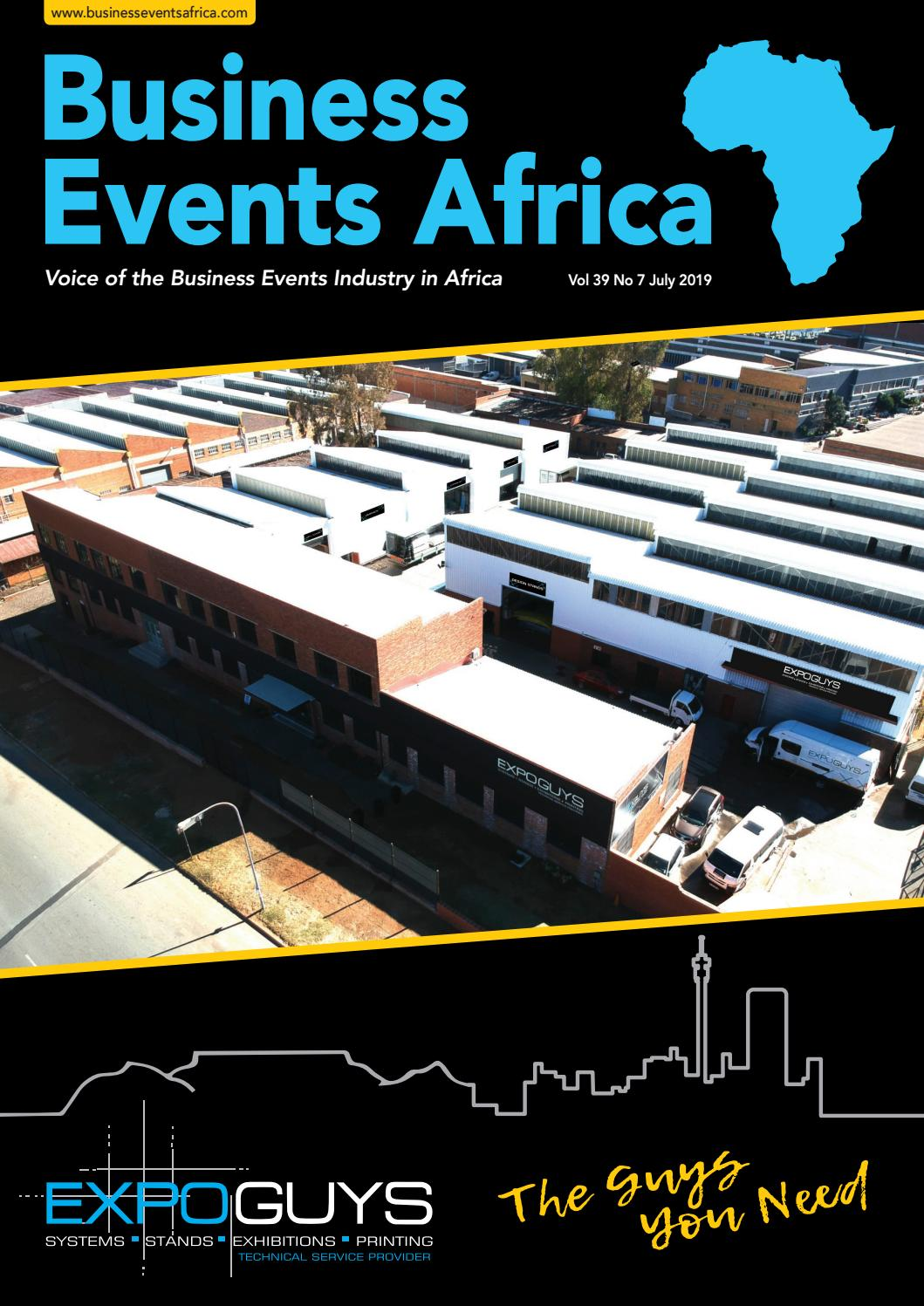 Business Events Africa July 2019 Vol 39 No 7 by Contact
