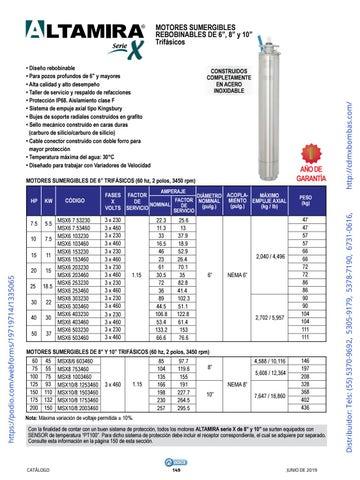 Page 149 of 01-EQUIPOS Y ACCESORIOS SUMERGIBLES Tels: (55) 5370-9692 5305-9179 5378-7190 6731-0616