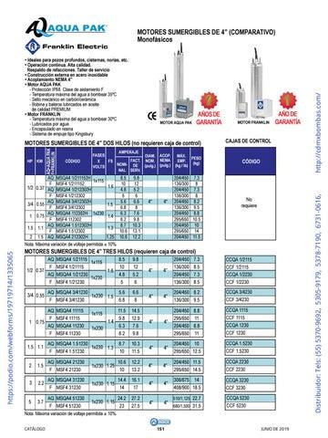 Page 151 of 01-EQUIPOS Y ACCESORIOS SUMERGIBLES Tels: (55) 5370-9692 5305-9179 5378-7190 6731-0616