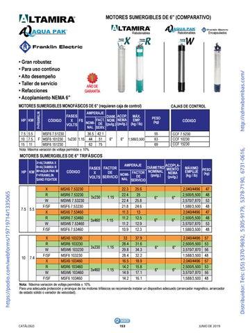 Page 153 of 01-EQUIPOS Y ACCESORIOS SUMERGIBLES Tels: (55) 5370-9692 5305-9179 5378-7190 6731-0616