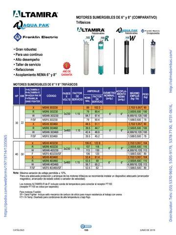 Page 155 of 01-EQUIPOS Y ACCESORIOS SUMERGIBLES Tels: (55) 5370-9692 5305-9179 5378-7190 6731-0616