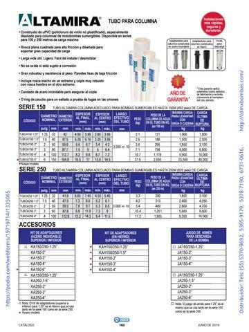 Page 160 of 01-EQUIPOS Y ACCESORIOS SUMERGIBLES Tels: (55) 5370-9692 5305-9179 5378-7190 6731-0616