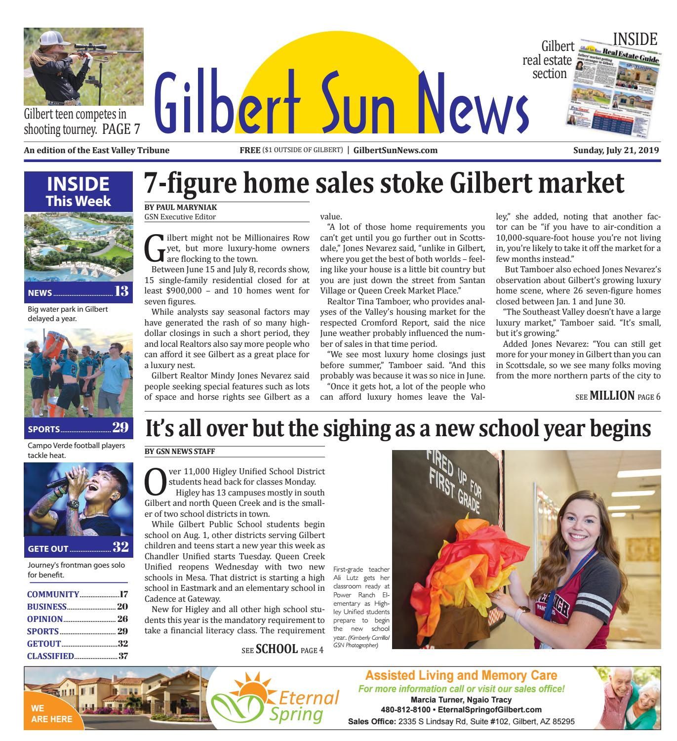 Front Page | Gilbert Sun News 07-21-2019