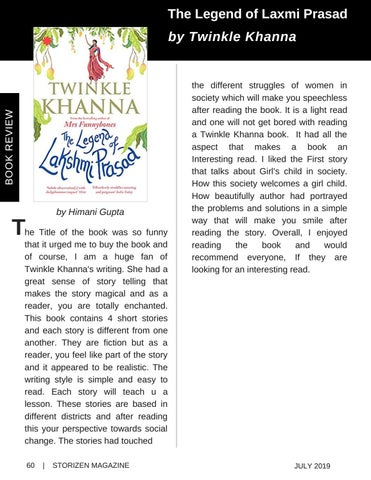 Page 60 of Book Review - The Legend Of Laxmi Prasad by Twinkle Khanna