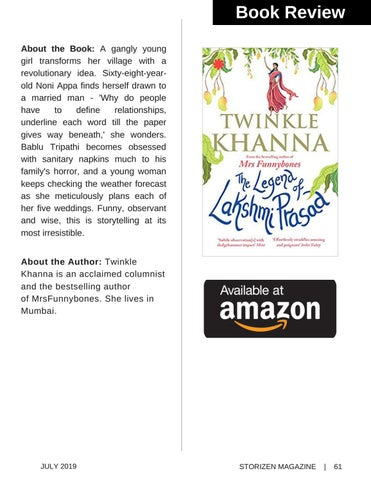 Page 61 of Book Review - The Legend Of Laxmi Prasad by Twinkle Khanna