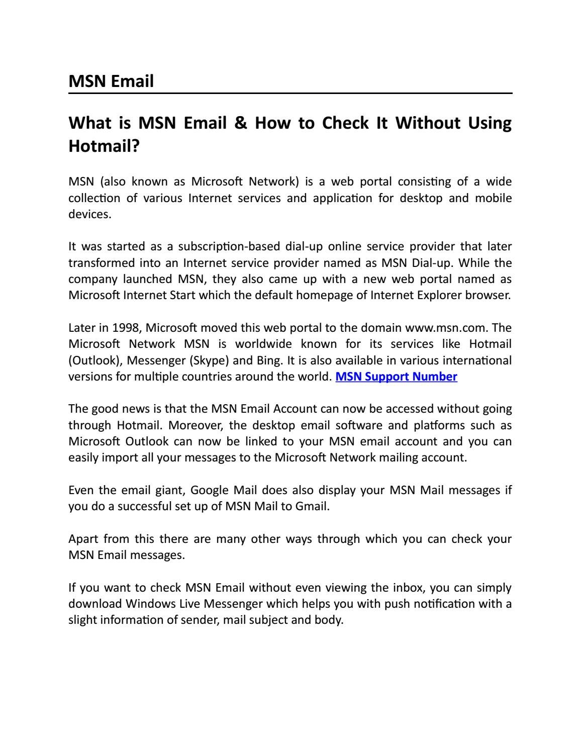 Msn Email Support Number 1 844 675 8722 And Customer Services By Hotmail Outlook Msn Email Support Number 1 844 600 1928 Issuu