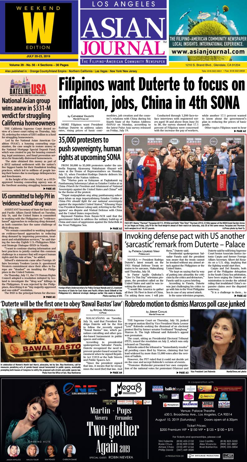 072019 - Los Angeles Weekend Edition by Asian Journal