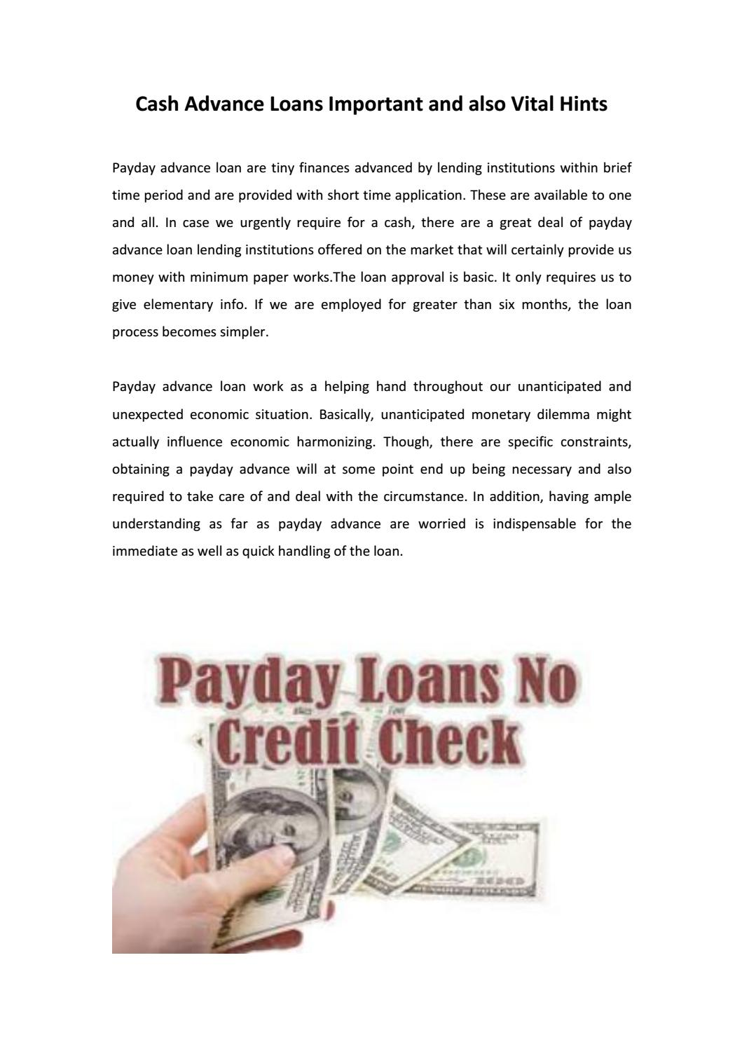 Cash Advance Loans >> Cash Advance Loans Important And Also Vital Hints By