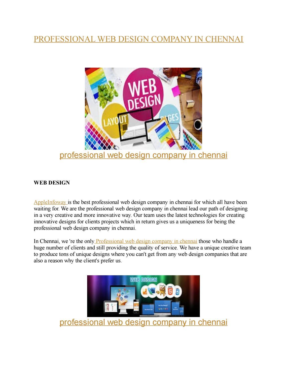 Professional Web Design Company In Chennai By Veronicaandrews2808 Issuu