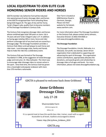 Page 22 of Local Equestrian to Join Elite Club Honoring Senior Riders and Horses