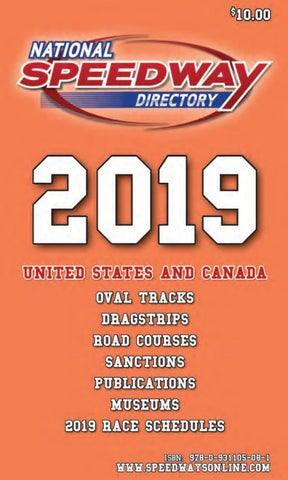 National Speedway Directory - 2019 Edition - Part One by twfrost - issuu