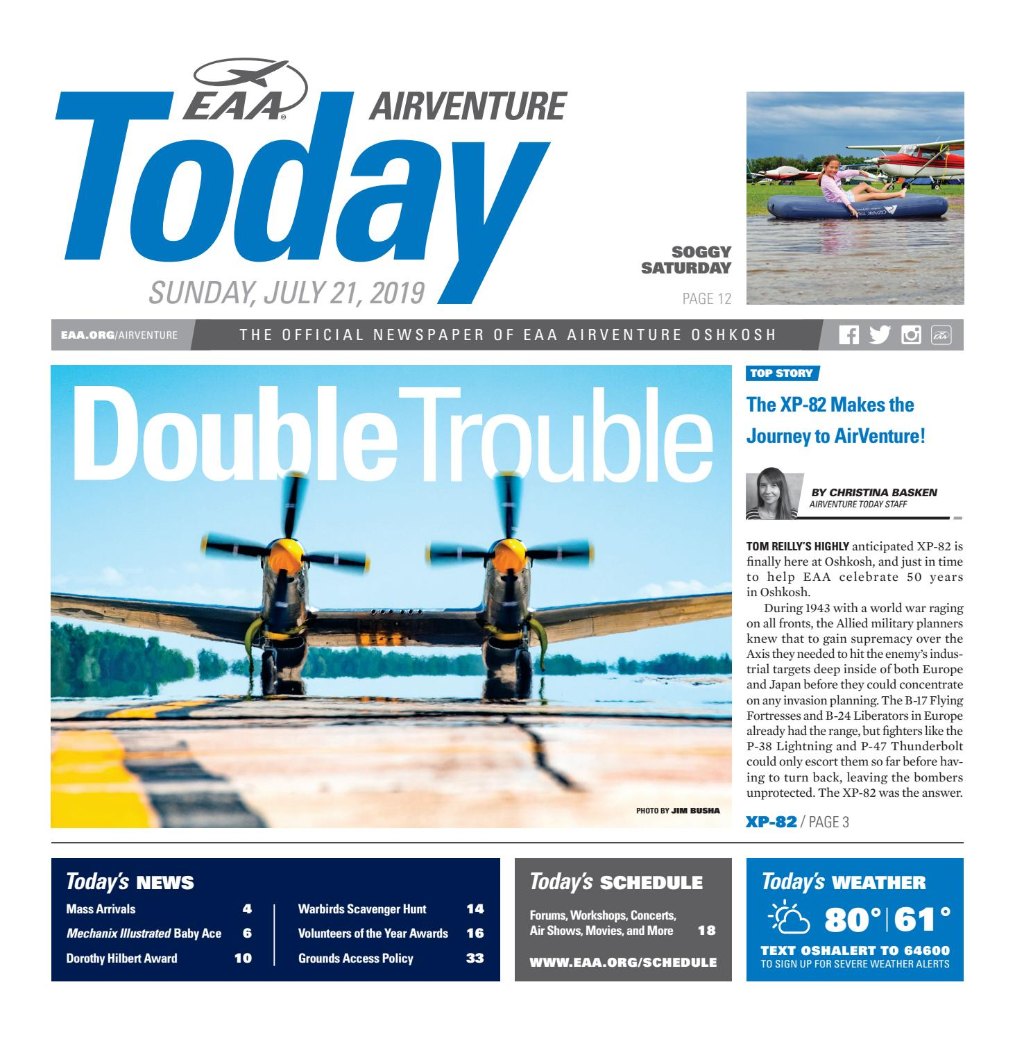 EAA AirVenture Today - Sunday, July 21, 2019 by EAA