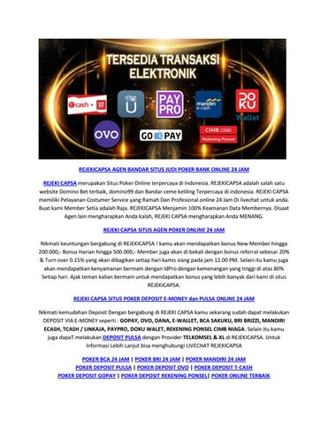 Situs Dewa Poker Online Deposit Cimb Niaga Online 24 Jam By Rejeki Capsa Issuu