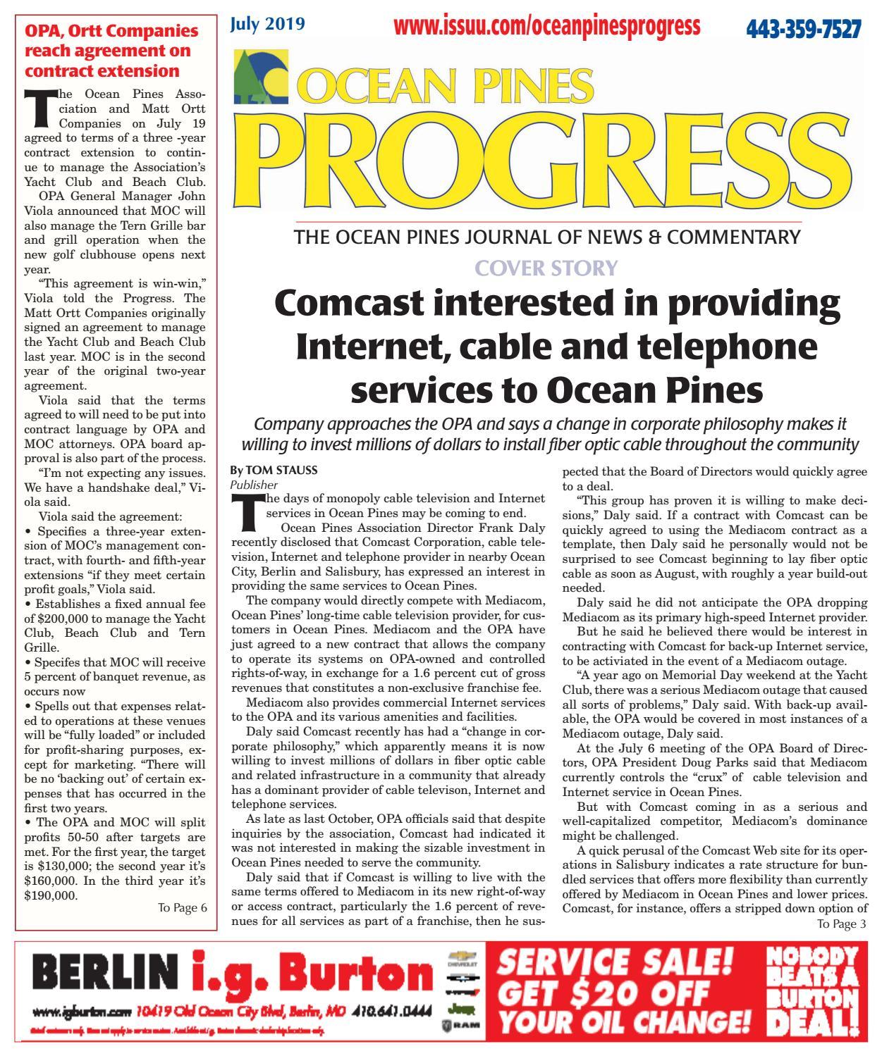 July 2019 Ocean Pines Progress by Ocean Pines Progress - issuu