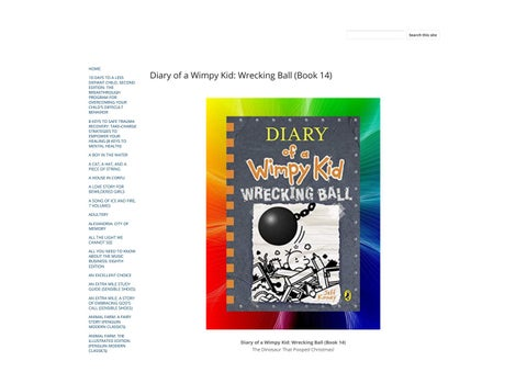 Download Diary Of A Wimpy Kid Wrecking Ball Book 14 By Asela Novico Issuu