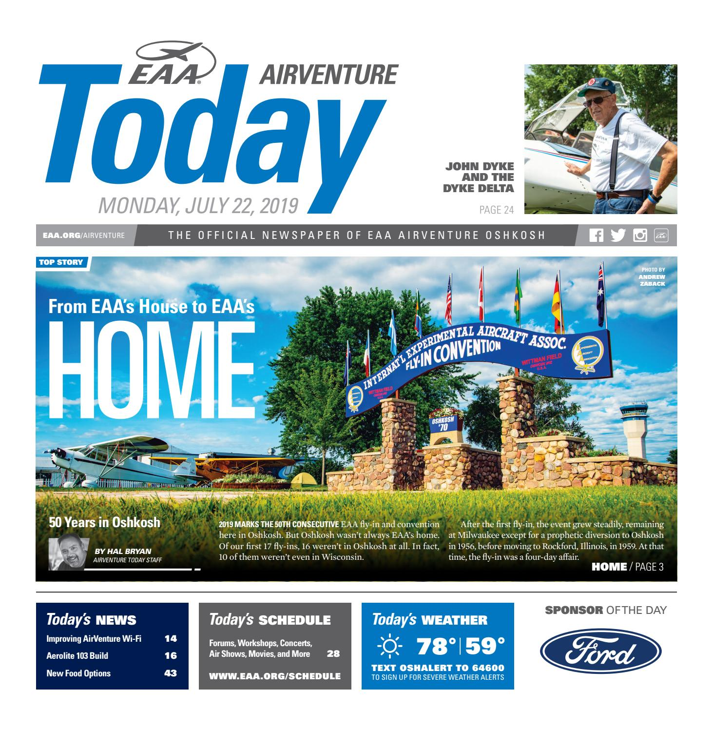 EAA AirVenture Today - Monday, July 22, 2019 by EAA: Experimental