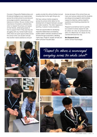 Page 11 of How we value RESPECT at CGS