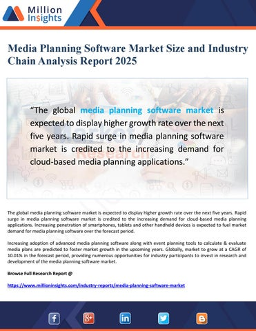 Media Planning Software Market Size and Industry Chain