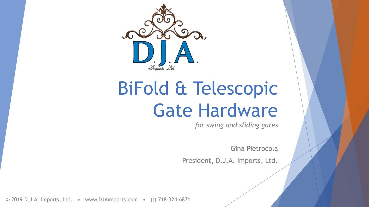 Picture of: Dja Telescopic And Bifold Gate Hardware Webinar By D J A Imports Ltd Issuu