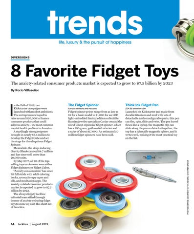 Page 38 of Trends-Diversions-8 Favorite Fidget Toys