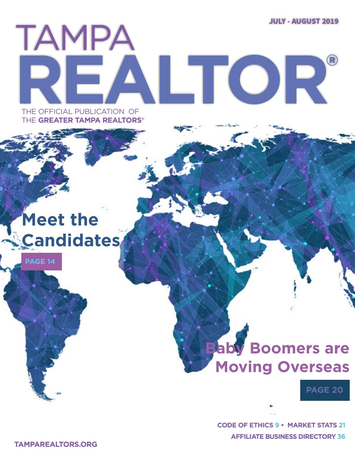 Tampa Realtor Magazine July August 2019 By Greater Tampa Realtors Issuu Census data showed an average annual growth of 2.47 percent, or a gain of approximately 97,000 residents per year. august 2019 by greater tampa realtors