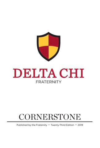 Delta Chi Cornerstone 2019, 23rd Edition by Delta Chi