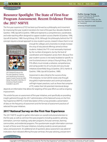 Page 21 of The State of First-Year Program Assessment: Recent Evidence from the 2017 NSFYE