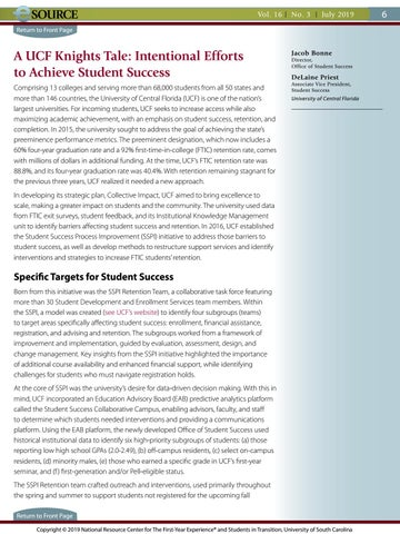 Page 6 of A UCF Knights Tale: Intentional Efforts to Achieve Student Success