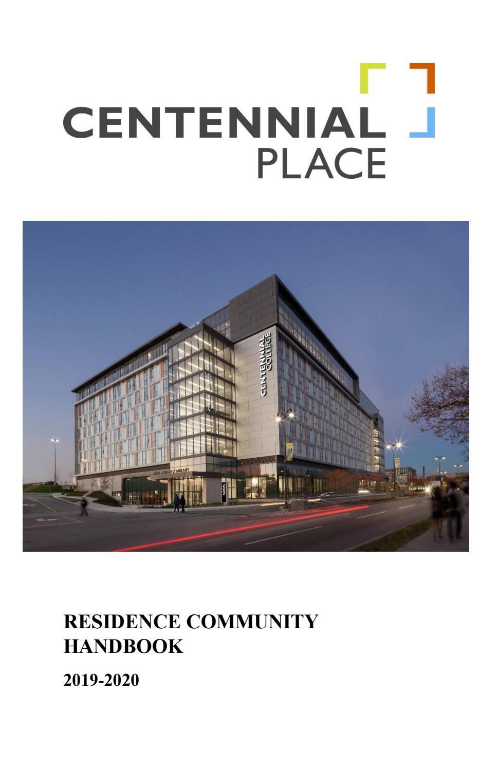 Centennial Place Handbook 2019 2020 By Canadian Campus Communities Issuu